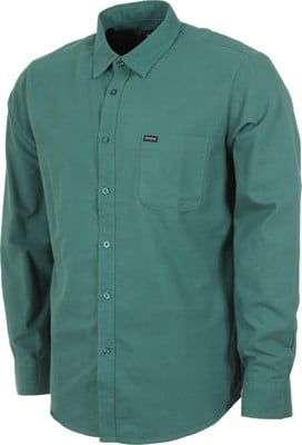 Brixton Charter Oxford L/S Shirt - emerald - view large