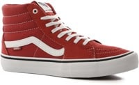 Vans Sk8-Hi Pro Skate Shoes - mineral red/true white