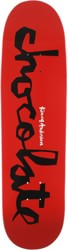 Chocolate Anderson Original Chunk 8.5 Skidul Shape Skateboard Deck - red/black