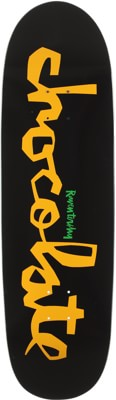 Chocolate Tershy Original Chunk 9.25 Couch Shape Skateboard Deck - black/yellow - view large