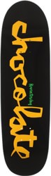 Chocolate Tershy Original Chunk 9.25 Couch Shape Skateboard Deck - black/yellow
