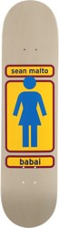 Girl Malto 93 Til 8.0 Skateboard Deck - grey/orange