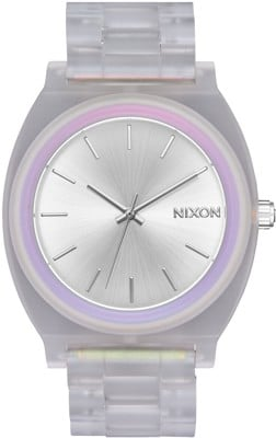 Nixon Time Teller Acetate Watch - clear/silver sunray/rainbow - view large