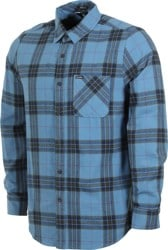Volcom Caden Plaid Flannel Shirt - blue rinse