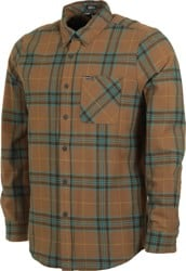 Volcom Caden Plaid Flannel Shirt - mud