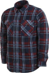 Volcom Bower Polar Fleece Flannel Shirt - navy