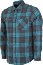 Volcom Caden Plaid Flannel Shirt - asphalt black