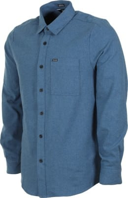 Volcom Caden Solid Flannel Shirt - blue rinse - view large