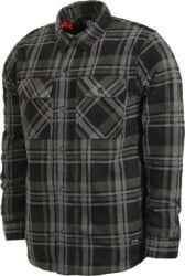 Volcom Bower Polar Fleece Flannel Shirt - black