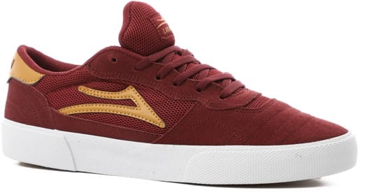 Lakai Cambridge Skate Shoes - burgundy suede - view large