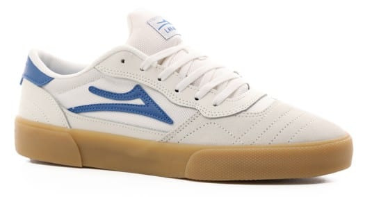 Lakai Cambridge Skate Shoes - white/blue suede - view large