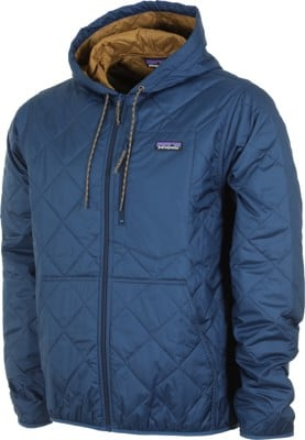 Patagonia Diamond Quilt Bomber Hoody Jacket - stone blue - view large