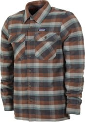 Patagonia Insulated Fjord Flannel Jacket - observer: ink black