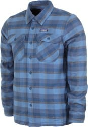 Patagonia Insulated Fjord Flannel Jacket - observer: woolly blue