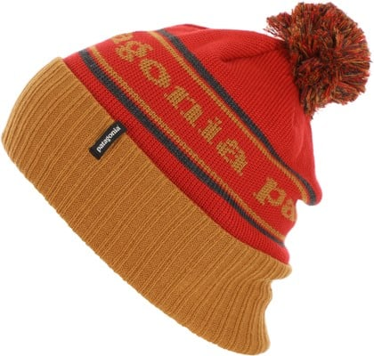 Patagonia Powder Town Beanie - park stripe: hammonds gold - view large