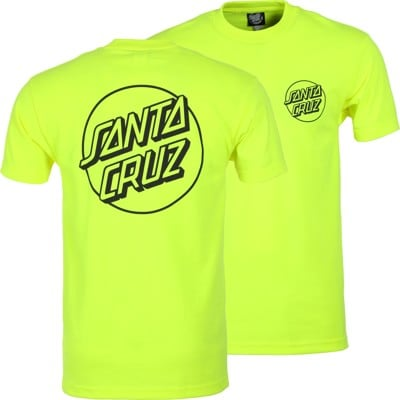 Santa Cruz Opus Dot T-Shirt - safety green/black - view large