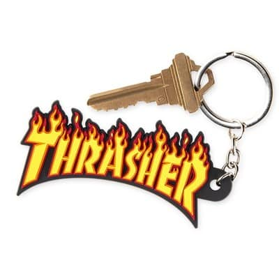 Thrasher Flame Keychain - view large