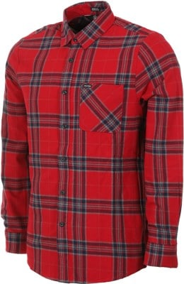 Volcom Caden Plaid Flannel Shirt - engine red - view large