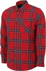 Volcom Caden Plaid Flannel Shirt - engine red