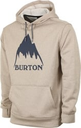 Burton Oak Hoodie - plaza taupe heather