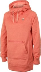 Burton Women's Oak Long Pullover Hoodie - crabapple heather