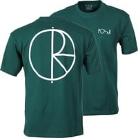 Polar Skate Co. Stroke Logo T-Shirt - dark green/white