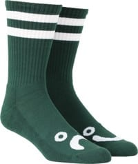 Polar Skate Co. Happy Sad Classic Sock - dark green