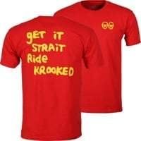 Krooked Strait Eyes T-Shirt - red/yellow