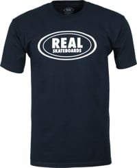 Real Oval T-Shirt - navy/white