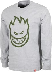 Spitfire Bighead L/S T-Shirt - athletic heather/military green