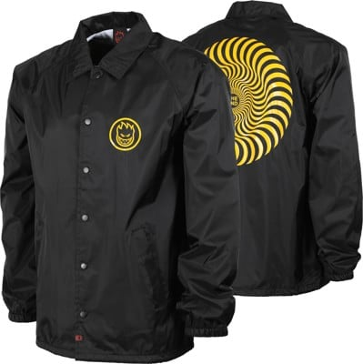 Spitfire Classic Swirl Coach Jacket - black/yellow - view large