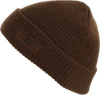 Anti-Hero Stock Eagle Label Cuff Beanie - brown/brown