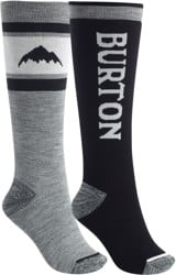 Burton Women's Weekend Midweight Snowboard Socks 2-Pack - true black