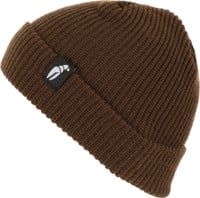 Crab Grab Claw Label Beanie - brown