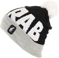 Crab Grab Pom Beanie - black/grey
