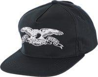 Anti-Hero Basic Eagle Snapback Hat - navy/white