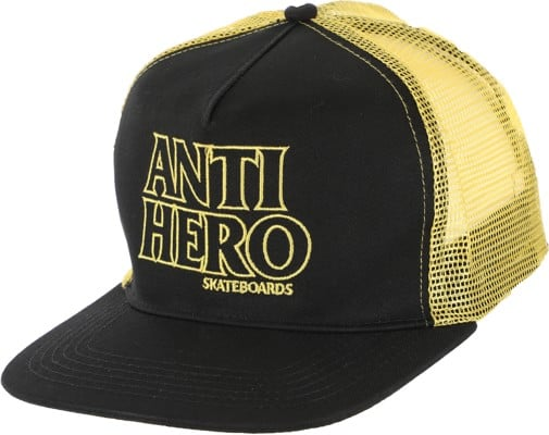 Anti-Hero Black Hero Outline Trucker Hat - black/gold - view large
