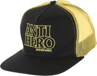 Anti-Hero Black Hero Outline Trucker Hat - black/gold