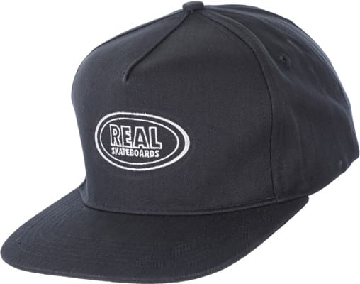 Real Oval Snapback Hat - navy/white - view large