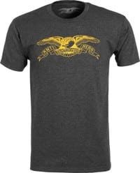 Anti-Hero Basic Eagle T-Shirt - charcoal heather/yellow