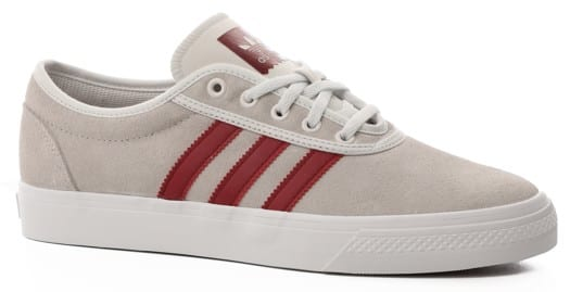 Adidas Adi Ease Skate Shoes - crystal white/collegiate burgundy/footwear white - view large