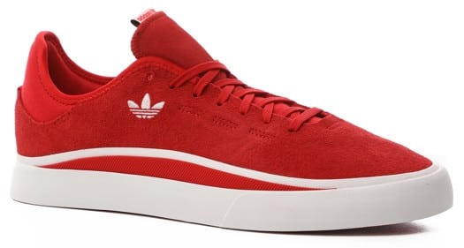 Adidas Sabalo Skate Shoes - scarlet/footwear white/scarlet - view large