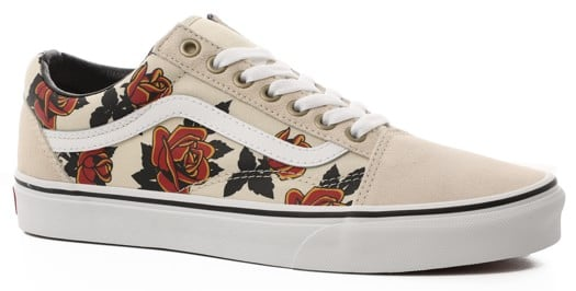 Vans Women's Old Skool Shoes - (mary rand) turtledove/true white - view large