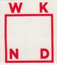 WKND Logo Sticker - red
