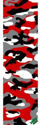MOB GRIP Camo Graphic Skateboard Grip Tape - red