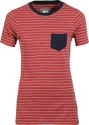 Element Women's Downtown Stripe S/S T-Shirt - etruscan red