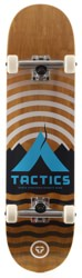 Tactics Base Camp 8.25 Complete Skateboard - brown deck / raw trucks / white wheels