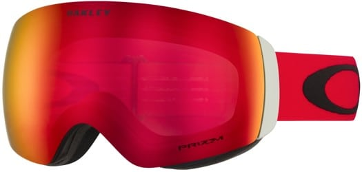 Oakley Flight Deck XM Goggles - red black/prizm torch iridium lens - view large