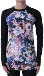 BlackStrap Pinnacle Crew Base Layer Top - floral retro