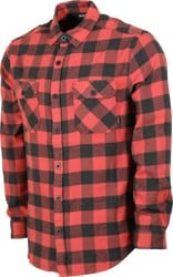 Burton Brighton Flannel Shirt - tandori heather buffalo plaid